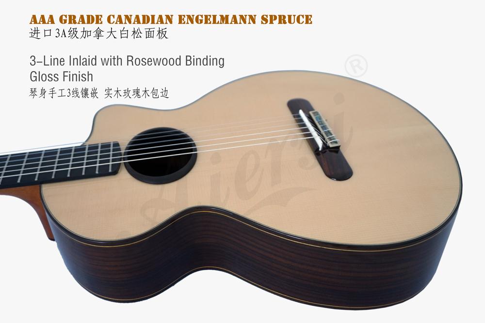 aiersi mini size vintage classical guitar (3)