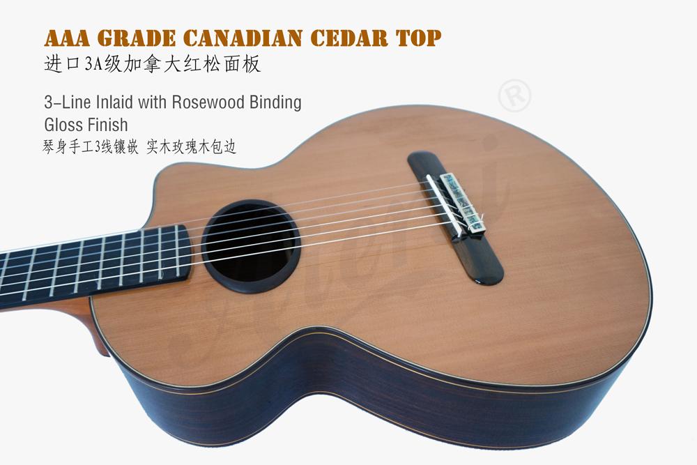 aiersi mini size vintage classical guitar (4)