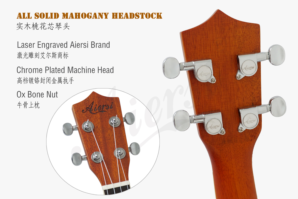 Aiersi brand matt brozen brass body resonator ukulele  (4)