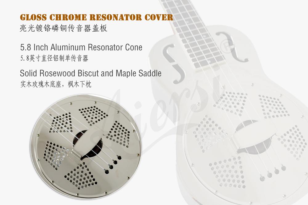 China aiersi brass body resonator ukulele for sale (2)