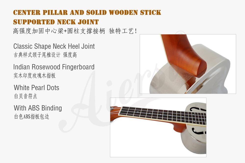 China aiersi brass body resonator ukulele for sale (3)