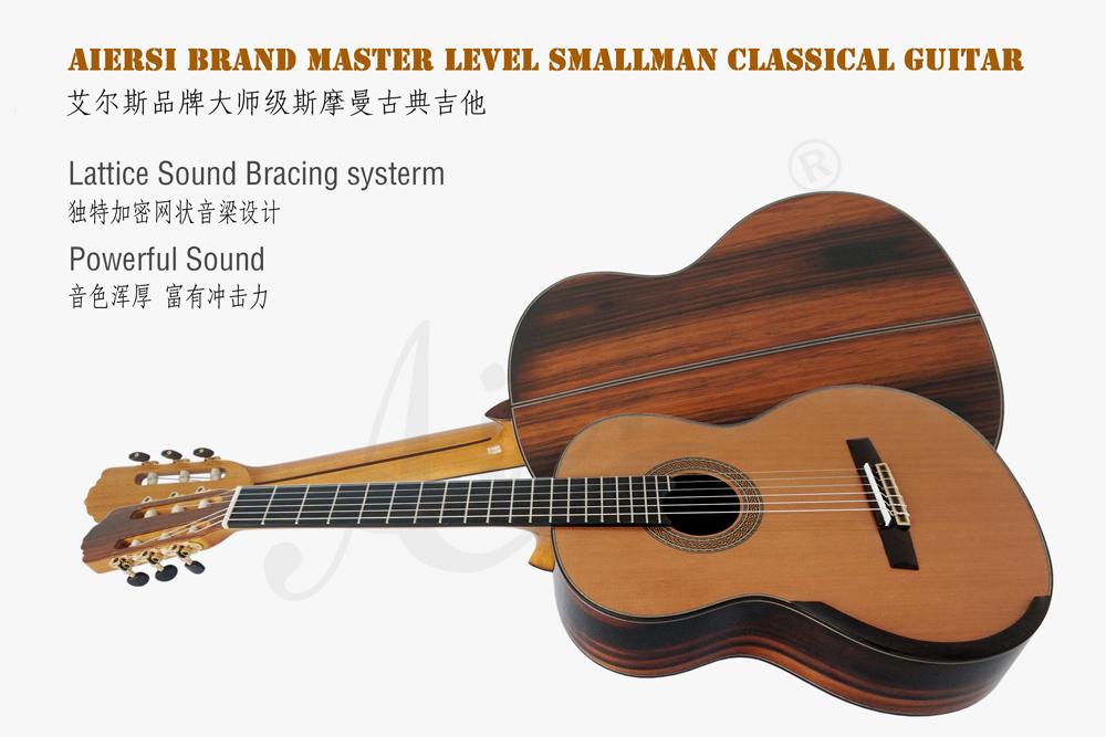 aiersi brand deluxe jave ebony smallman guitar  (1)
