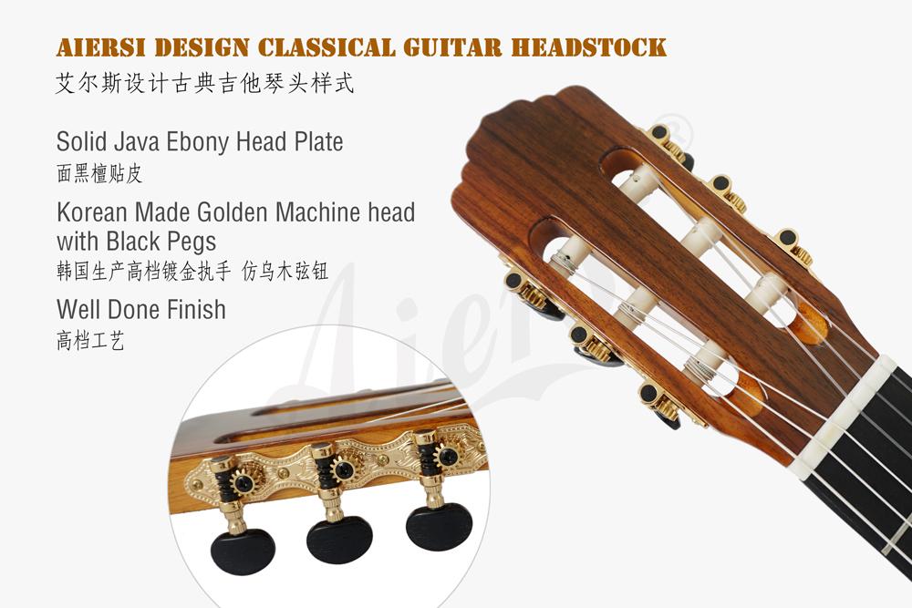 aiersi brand deluxe jave ebony smallman guitar  (3)