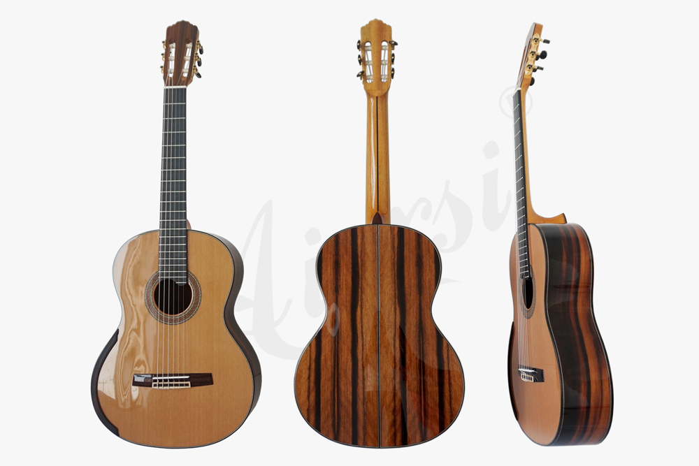 aiersi brand deluxe jave ebony smallman guitar  (7)