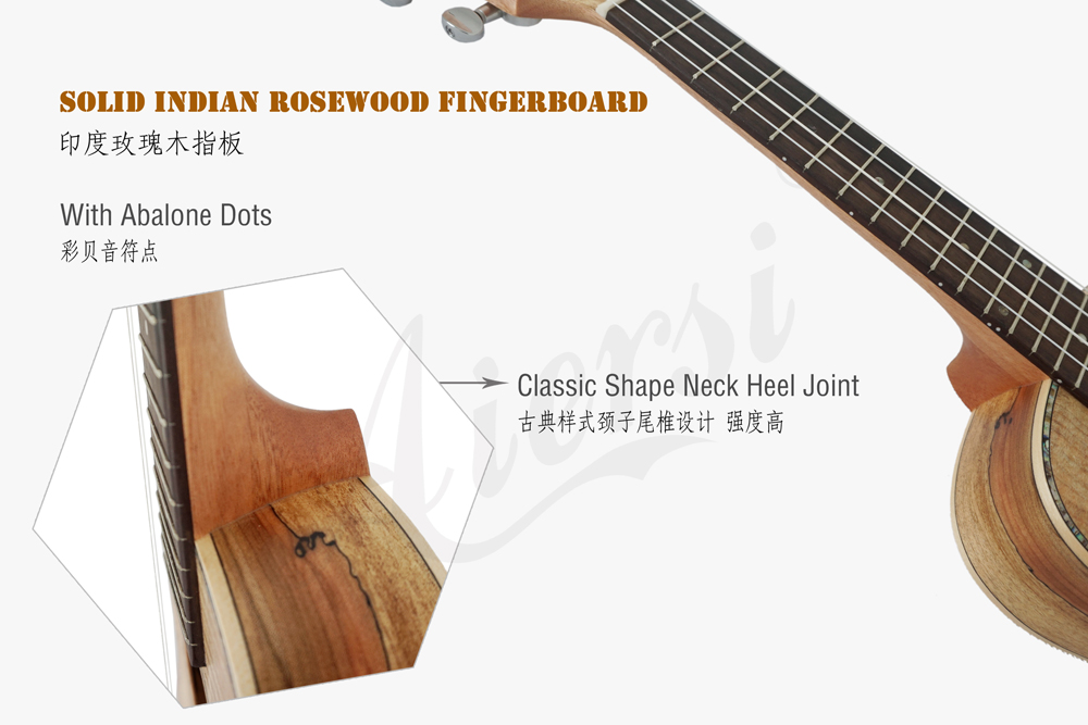 aiersi brand spalted maple plywood concert ukulele (3)