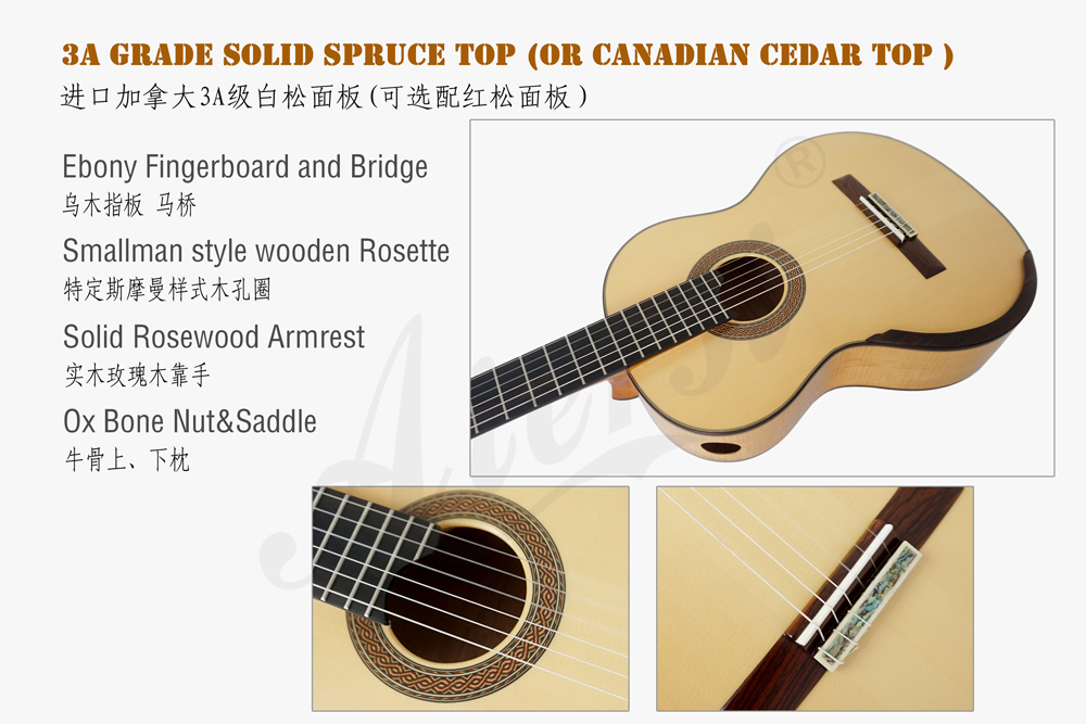 aiersi brand figured maple smallman guitar  (2)