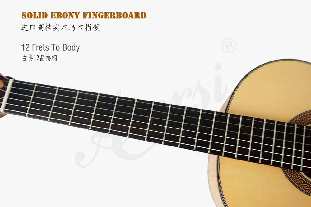 aiersi brand figured maple smallman guitar  (3)