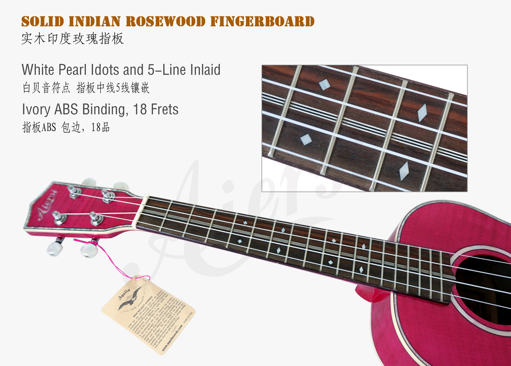 aiersi brand all solid figured maple body tenor ukulele  (4)