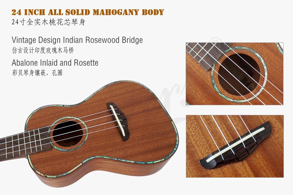 koa pili koko concert all solid mahogany ukulele  (1)