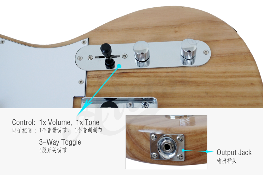 wholesale tele style solid body electric guitar for sale (2)