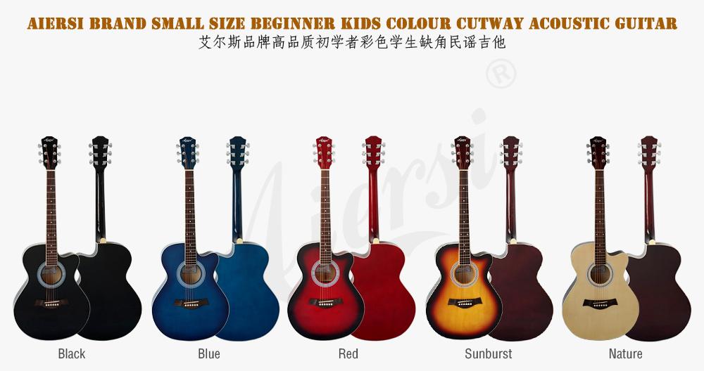 38 inch colour acoustic guitar