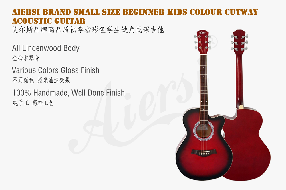 38 inch cutway colour lindewood body acoustic guitar (2)