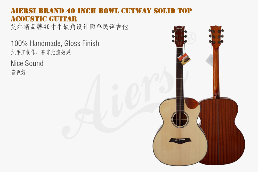 aiersi brand 40 OM style acoustic guitar  (1)