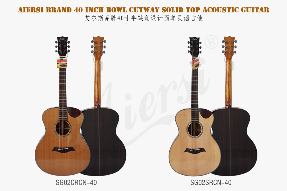 aiersi brand 40 inch solid top acoustic guitar  (1)
