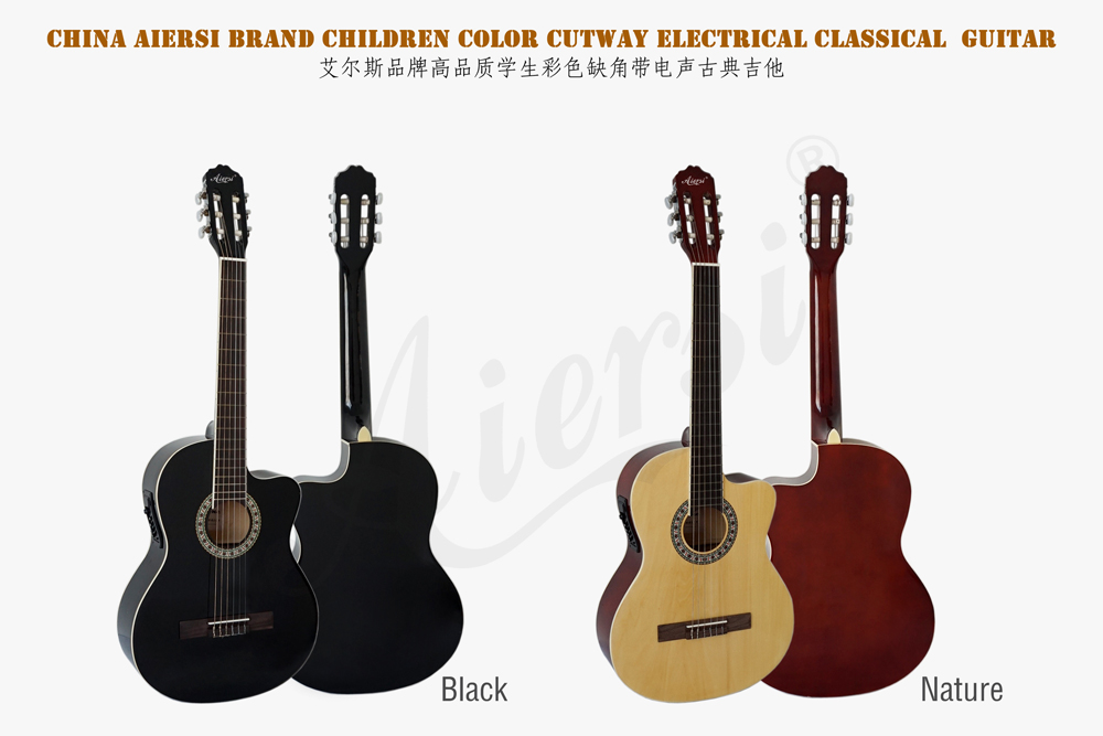 aiersi brand electric plywood body classical guitar  (1)