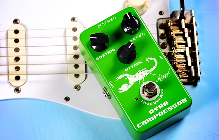 dynamic compressor guitar pedal