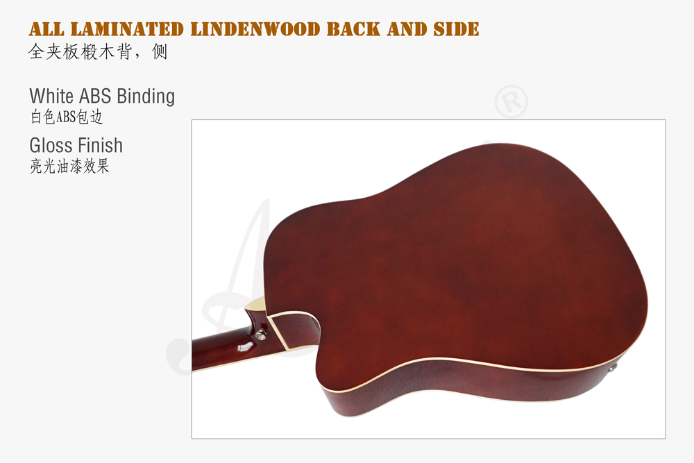 41 inch lindenwood body electric acoustic guitar  (6)
