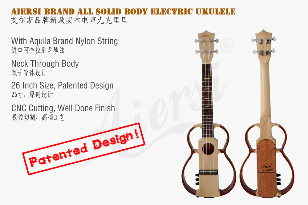 Aiersi brand nylon string electric ukulele for sale  (2)