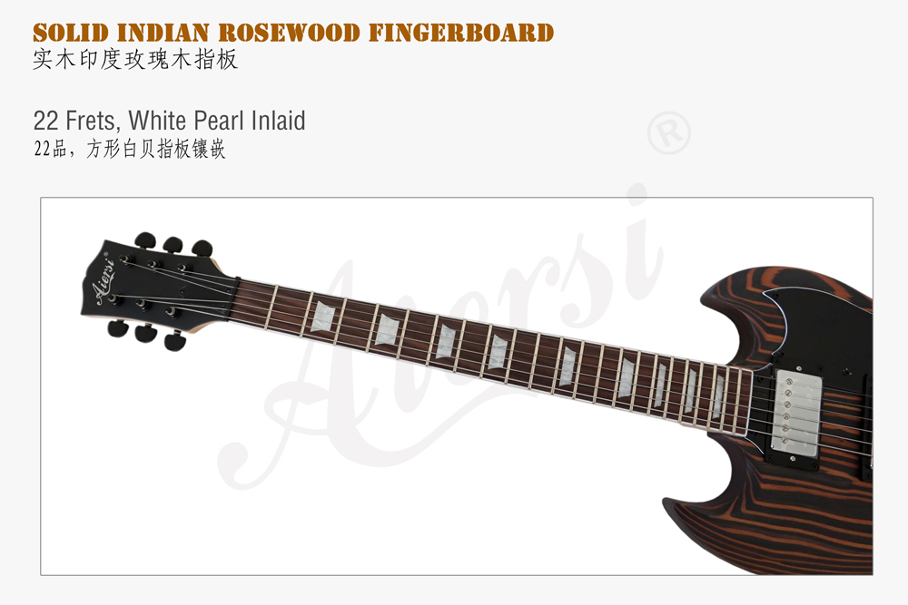 Wholesale Zebrawood body SG Style electric guitar  (4)