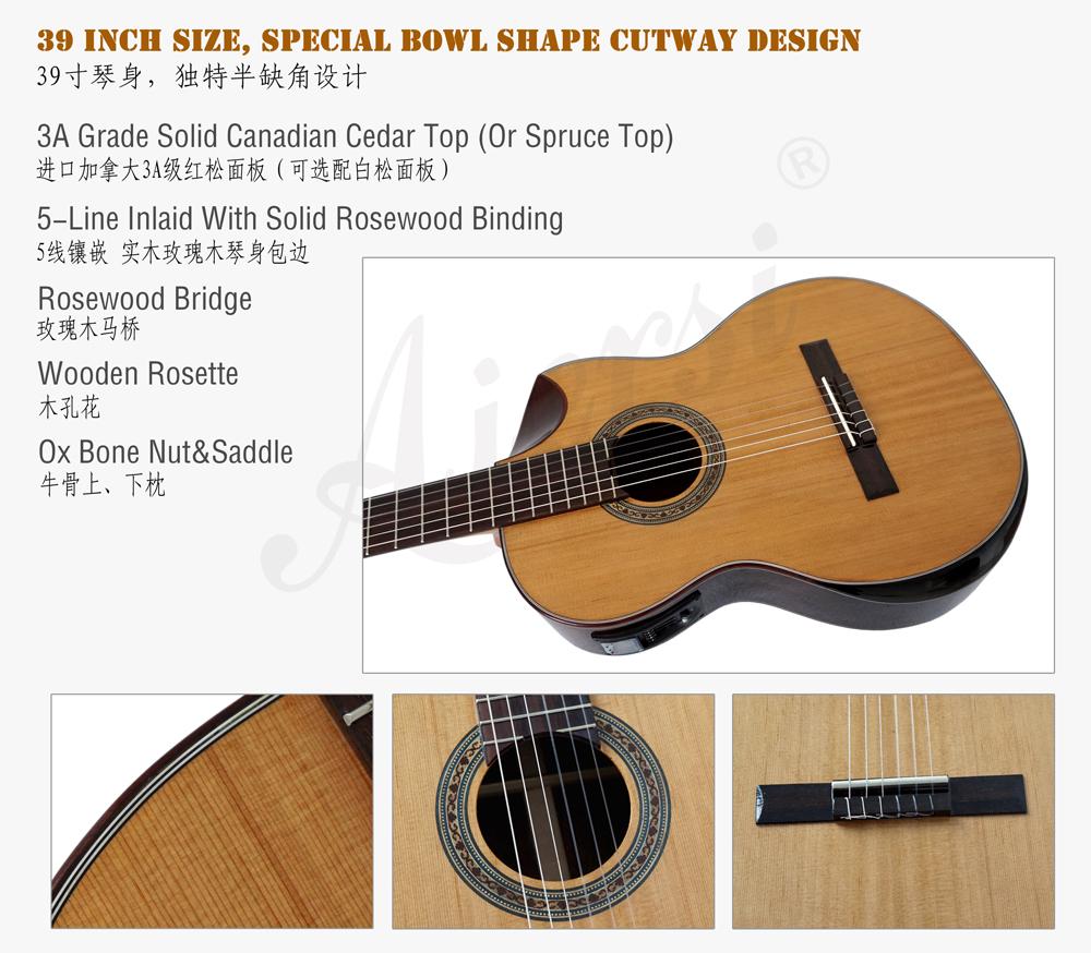 aiersi brand electric classical guitar (2)