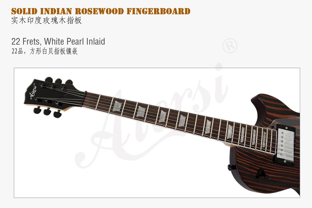 aiersi brand zebrawood body LP style guitar (4)