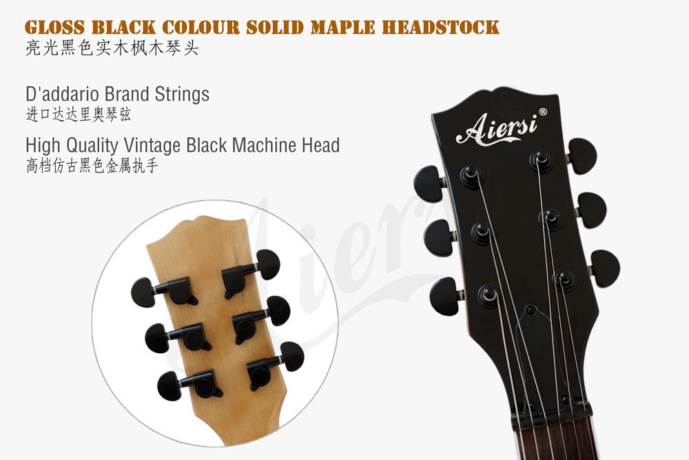aiersi brand zebrawood body LP style guitar (5)