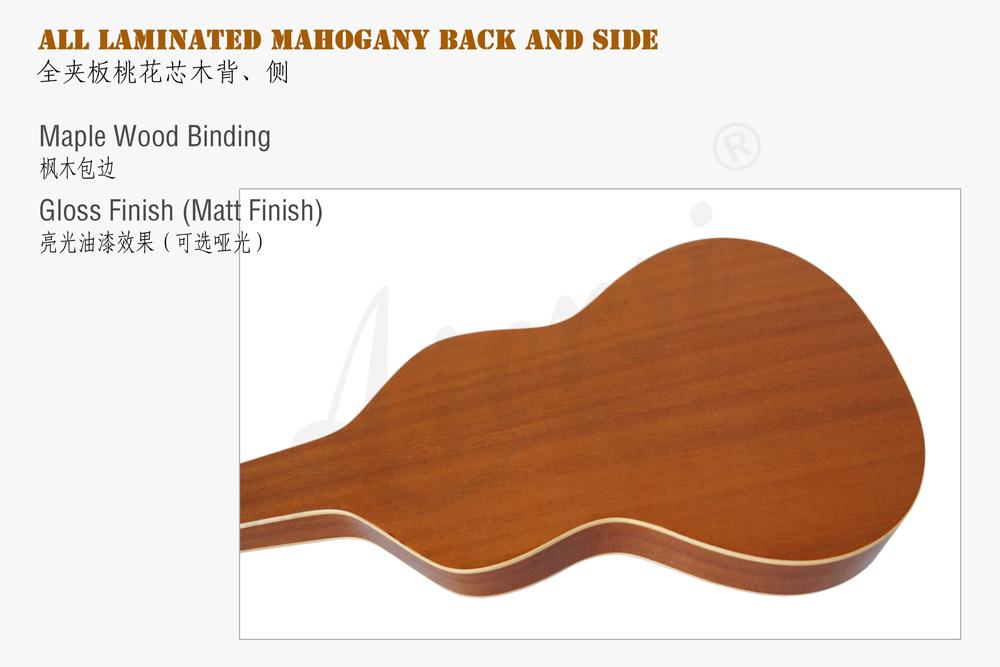 china aiersi brand mahogany hawaiian guitar for sale (7)