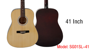 Aiersi Brand 41 Inch Plywood Body Dreadnaught Acoustic Guitar Model SG01SL