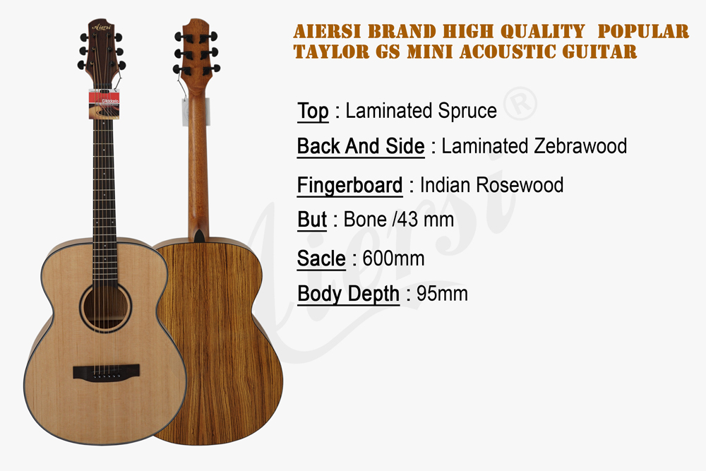 Aiersi Brand Plywood Acoustic Guitar With Different Material And