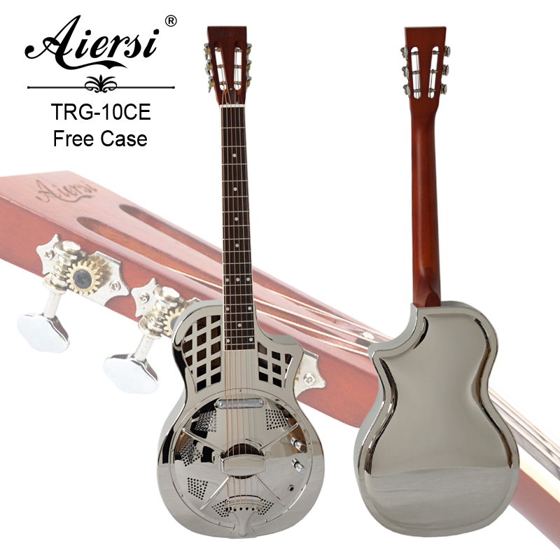aiersi brandcutway shape electric parlour resonator guitar model trg 10ce aiersi brand guitar. Black Bedroom Furniture Sets. Home Design Ideas